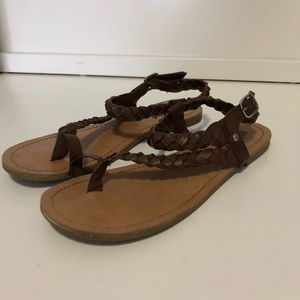 Unlisted Leather Braided Sandals